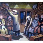1.In a train carriage by Bernard Canavan